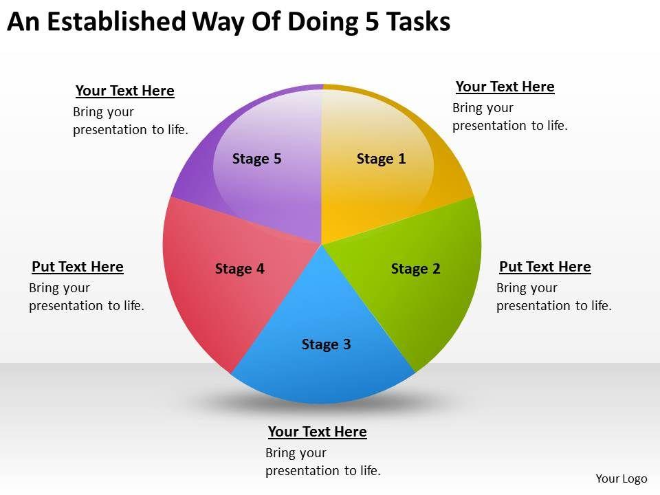 business_management_structure_diagram_established_way_of_doing_5_tasks_powerpoint_slides_Slide01