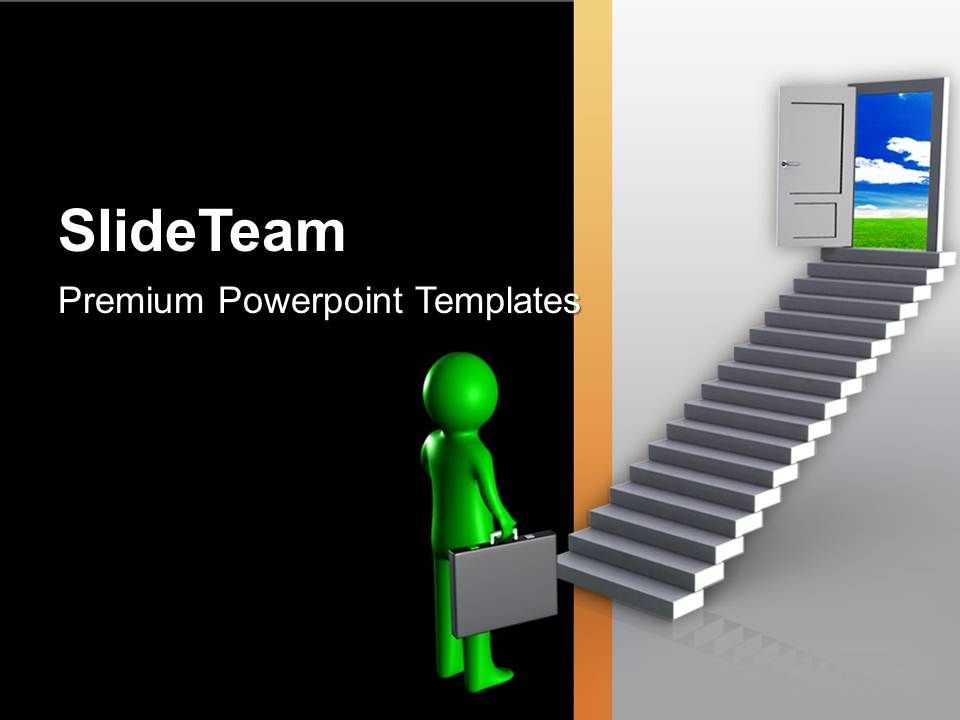 professional looking powerpoint templates - professional strategy presentation showing business men