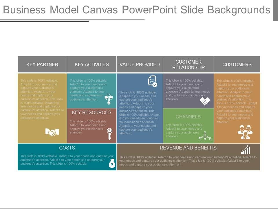 business model canvas powerpoint slide backgrounds | powerpoint, Powerpoint templates
