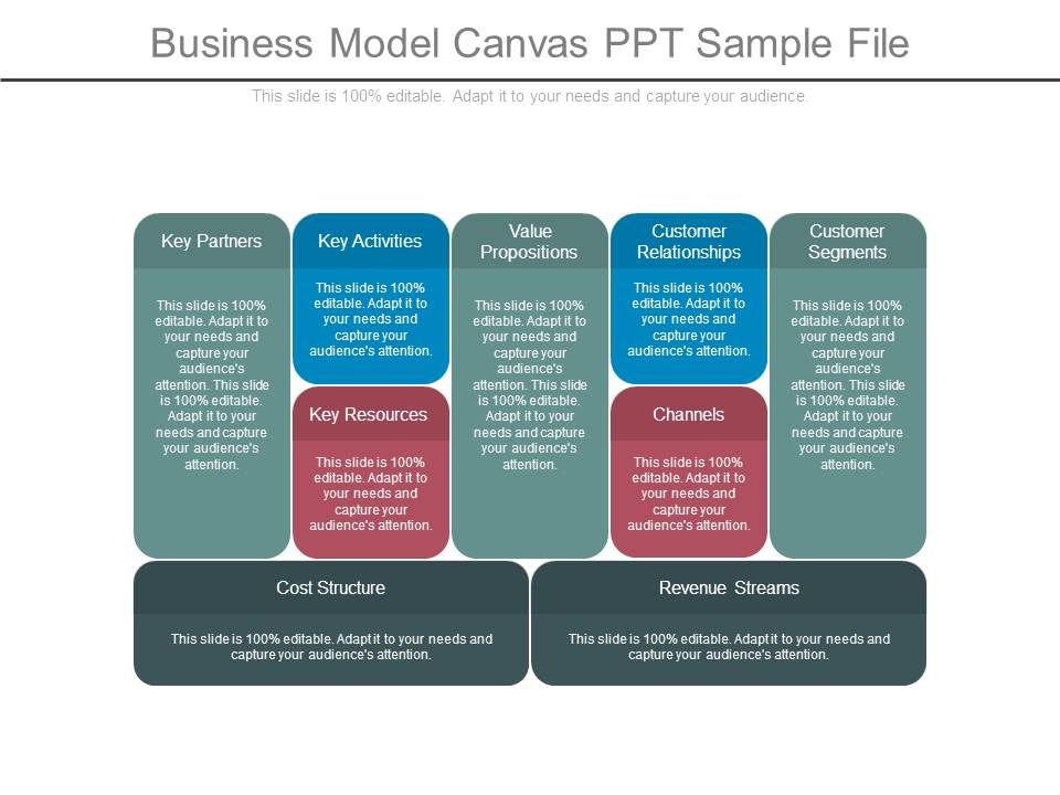 Business Model Canvas Ppt Sample File Powerpoint Slide