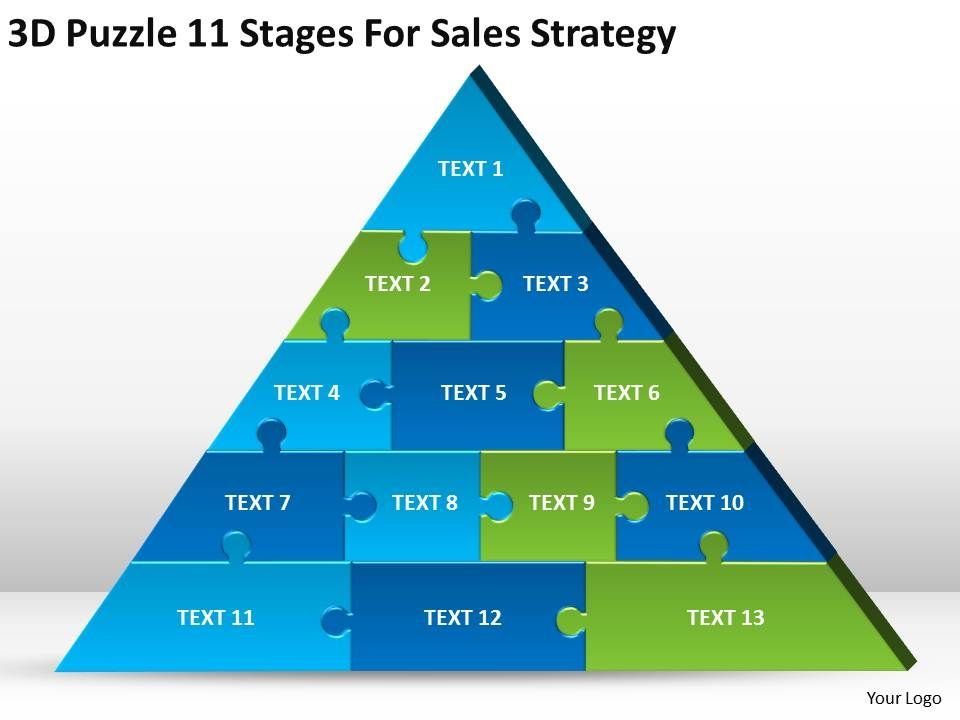 business_model_diagram_3d_puzzle_11_stages_for_sales_strategy_powerpoint_templates_0522_Slide01