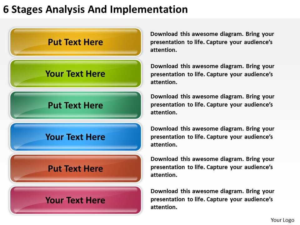 business_model_diagram_6_stages_analysis_and_implementation_powerpoint_slides_Slide01