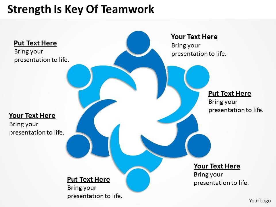 business model diagram examples is key of teamwork powerpoint