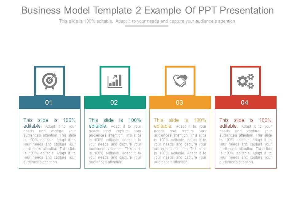 Business model template 2 example of ppt presentation powerpoint businessmodeltemplate2exampleofpptpresentationslide01 businessmodeltemplate2exampleofpptpresentationslide02 wajeb Images
