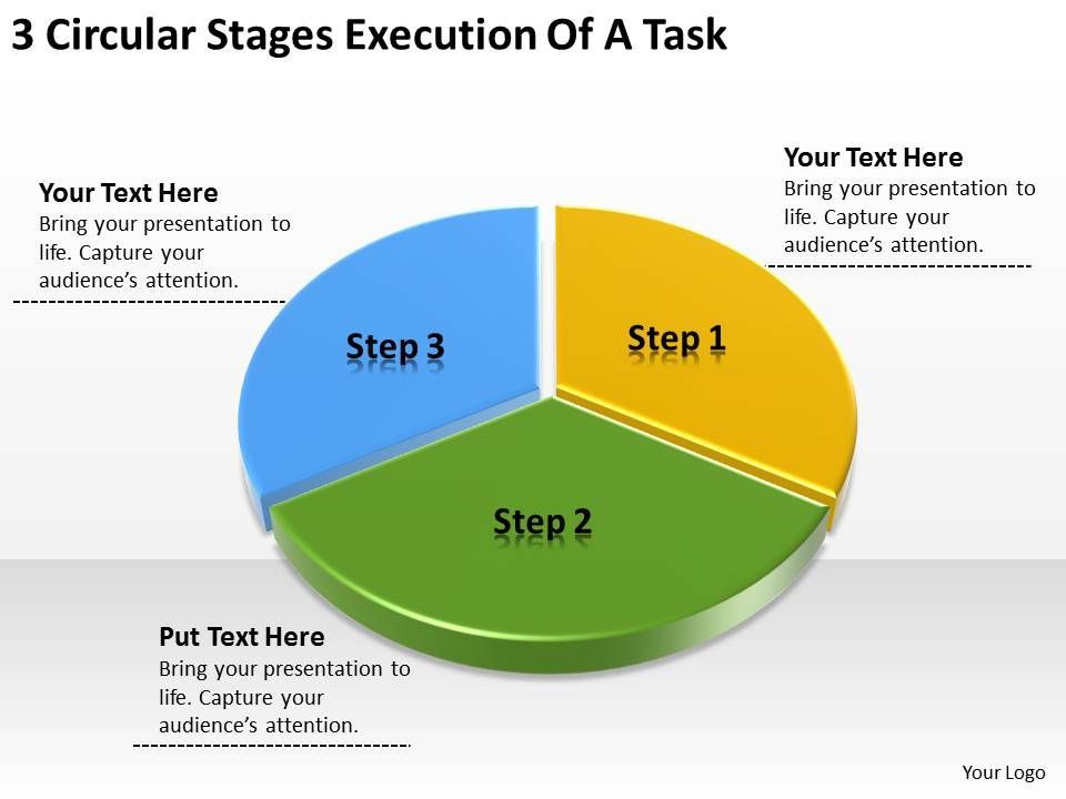 business_network_diagram_3_circular_stages_execution_of_task_powerpoint_slides_Slide01