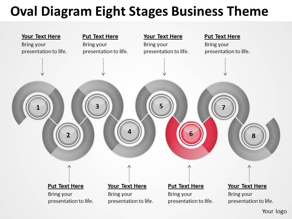 Business Network Diagram Examples Oval Eight Stages Theme