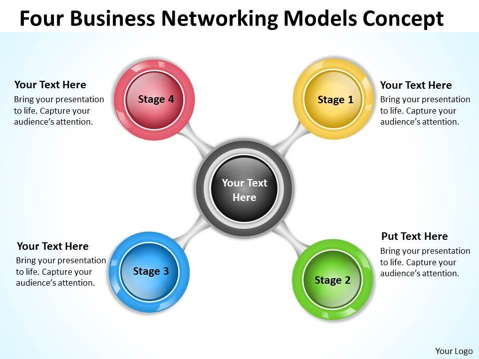Business Network Diagram Networking Models Concept Powerpoint