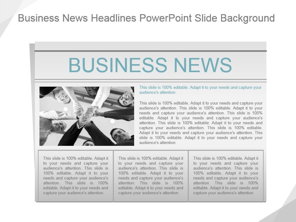 Business News Headlines Powerpoint Slide Background Template
