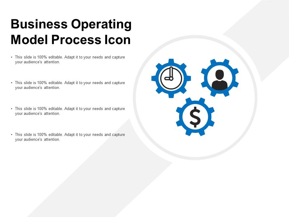 business operating model process icon