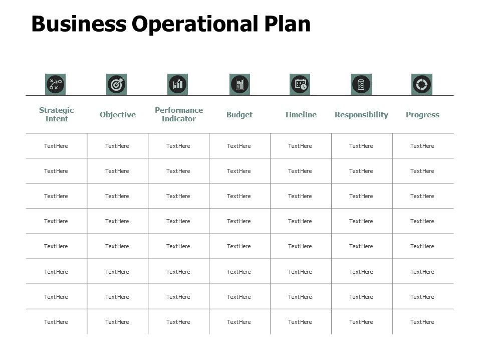 Business Operational Plan Budget Ppt Powerpoint Presentation Gallery Designs