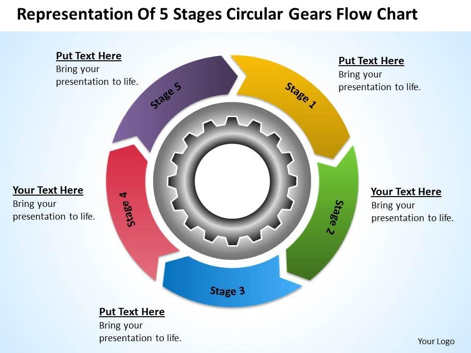 Business Organizational Chart Template Powerpoint Templates Ppt