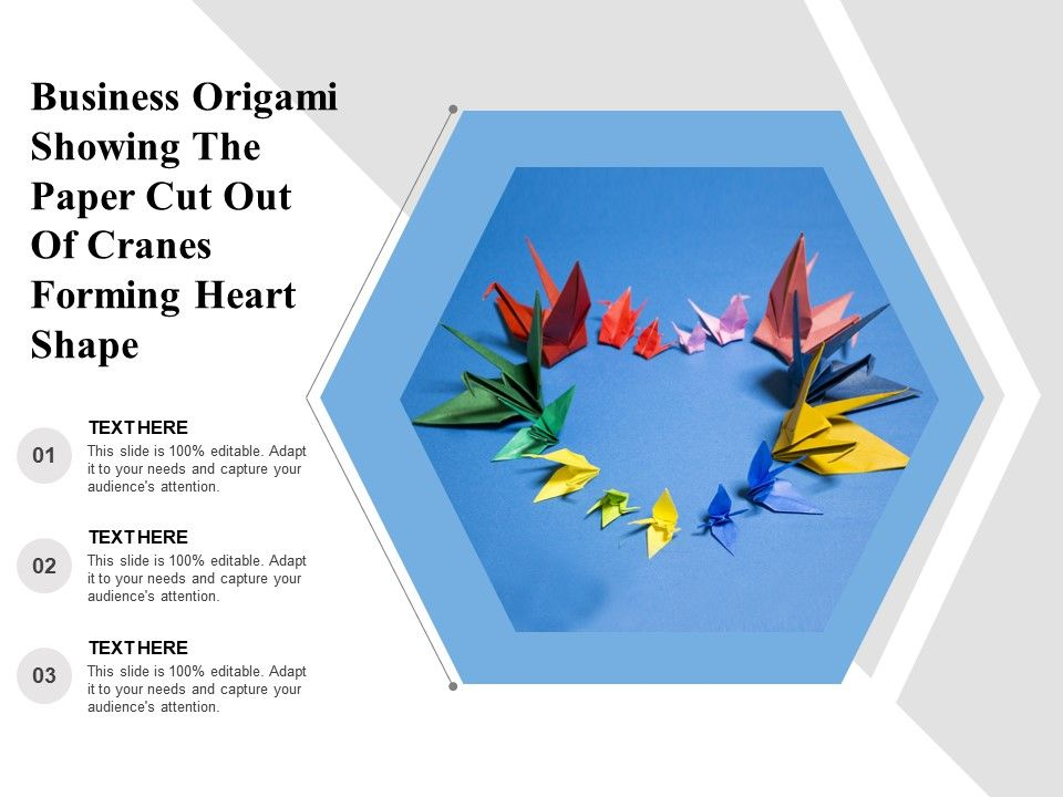 Business Origami Showing The Paper Cut Out Of Cranes Forming Heart