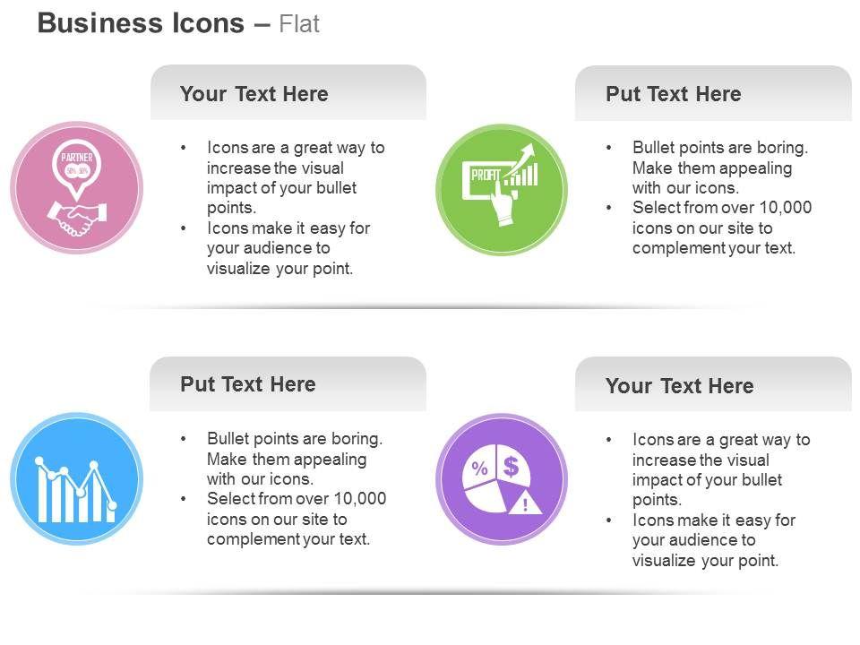 business_partnership_profit_sharing_analysis_pie_chart_ppt_icons_graphics_Slide01