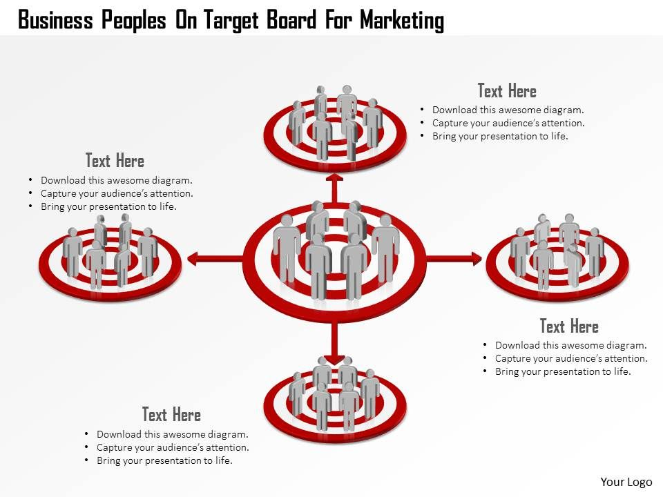 business_peoples_on_target_board_for_marketing_powerpoint_template_Slide01