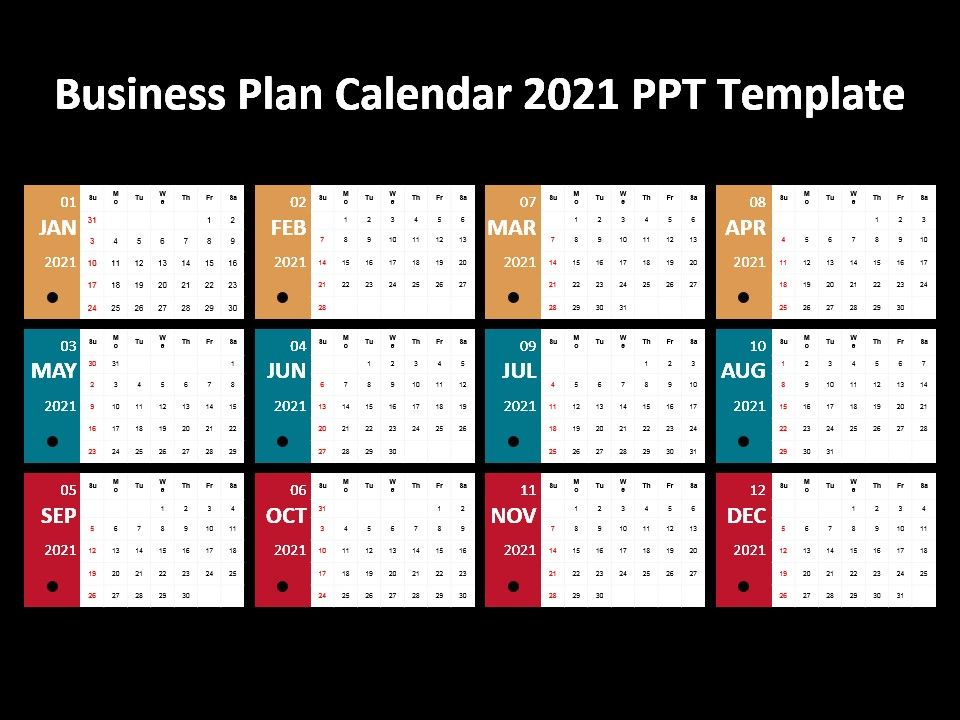 Business Plan Calendar 2021 Ppt Template Powerpoint Design Template Sample Presentation Ppt Presentation Background Images
