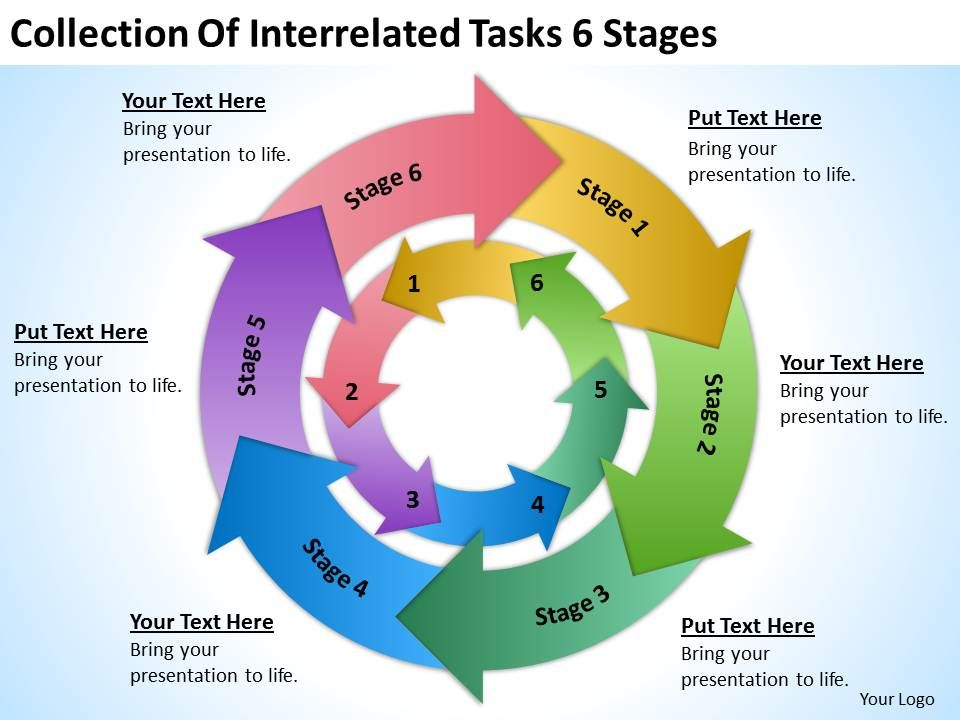 business_plan_diagram_interrelated_tasks_6_stages_powerpoint_templates_ppt_backgrounds_for_slides_Slide01