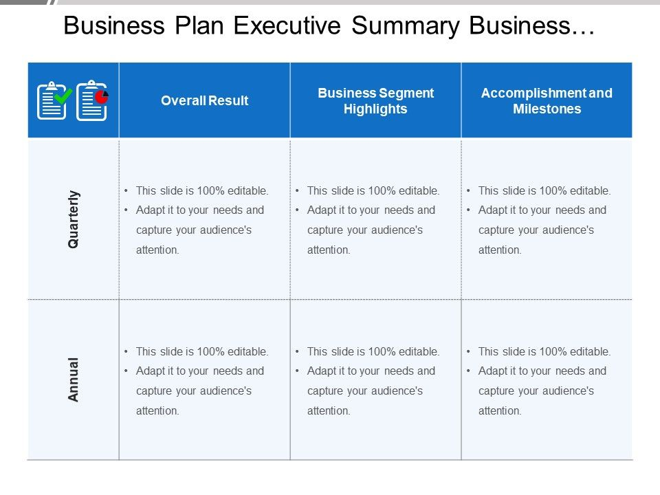 business_plan_executive_summary_business_results_highlights_milestones_Slide01
