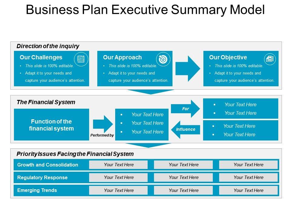 business plan summary ppt