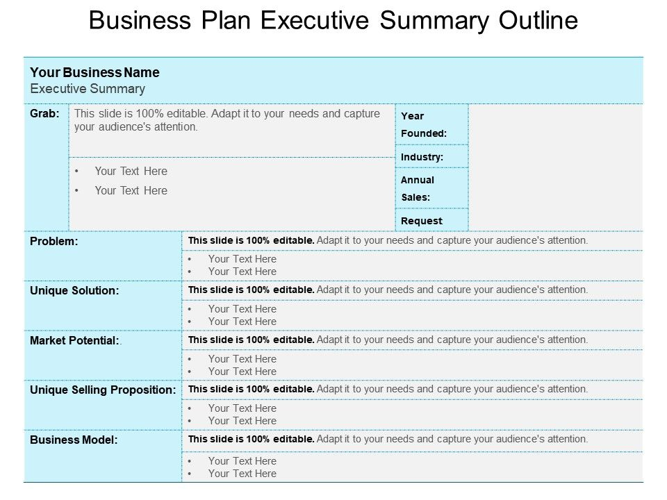 business plan executive summary outline powerpoint templates, Modern powerpoint