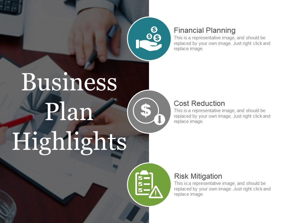 Business Plan Highlights Point Layout Slide01 Slide02 Slide03