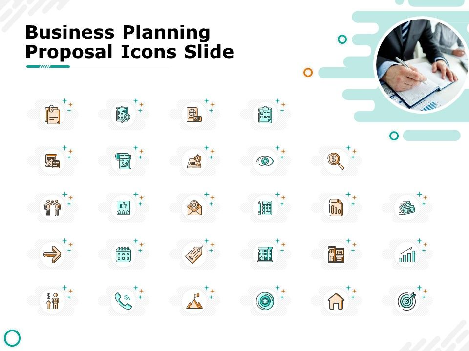Business Planning Proposal Icons Slide Ppt Powerpoint Presentation Visual Aids Model