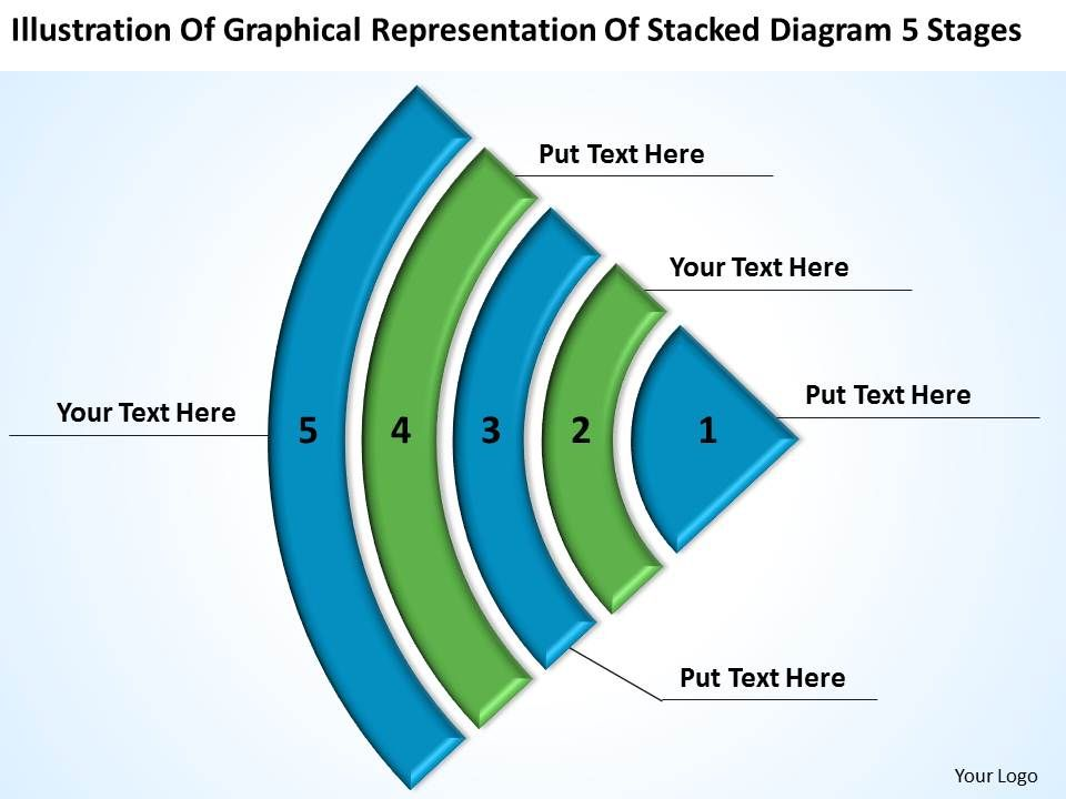 business powerpoint examples graphical representation stacked