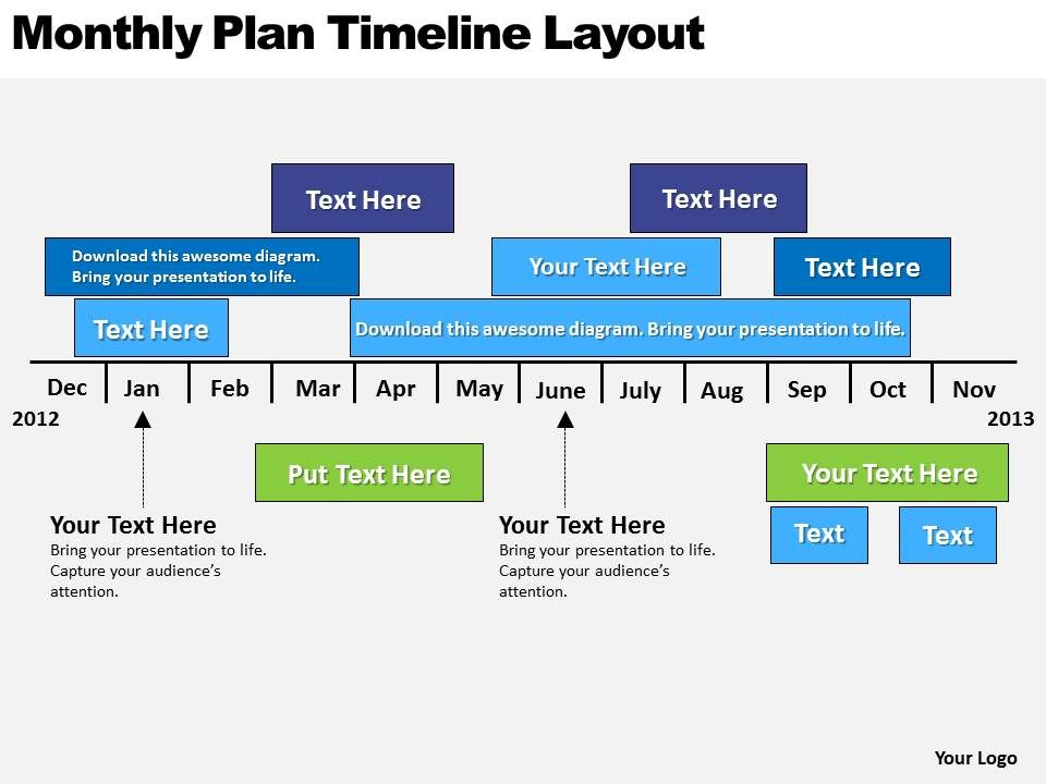 Business Powerpoint Examples Plan Timeline Layout Templates Ppt