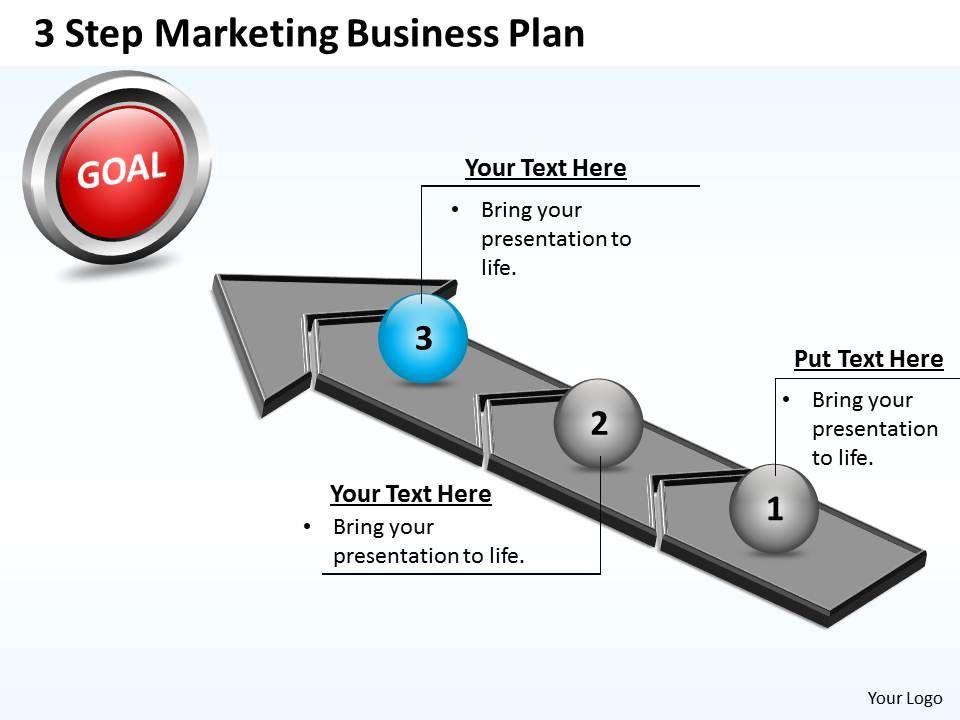 Business Powerpoint Templates 3 Step Marketing Plan Sales Business