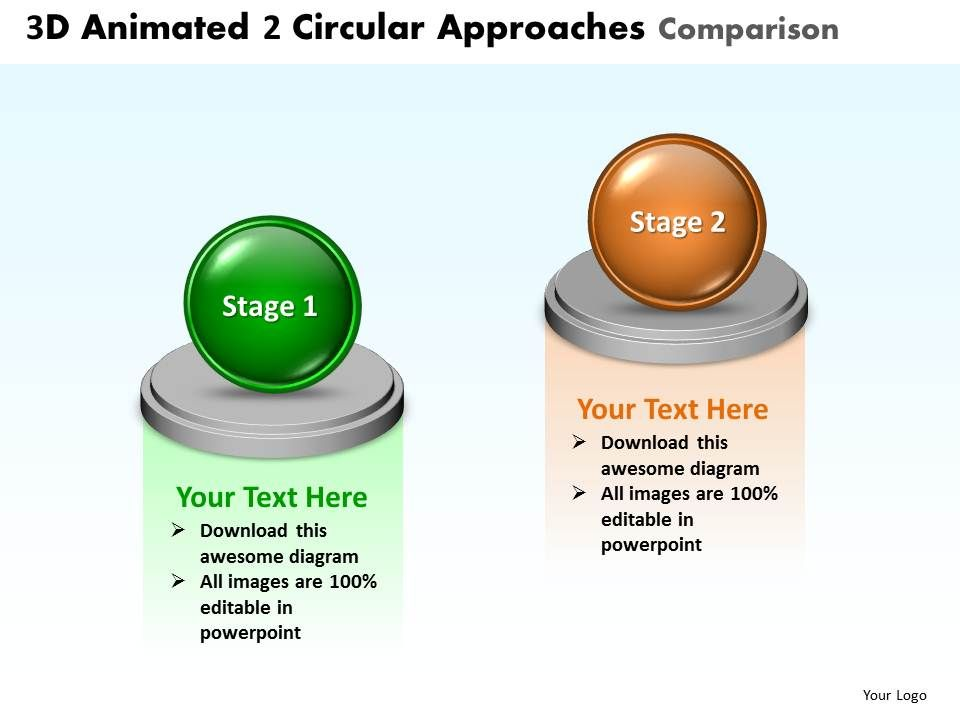 Business Powerpoint Templates 3d Animated 2 Circular Approaches