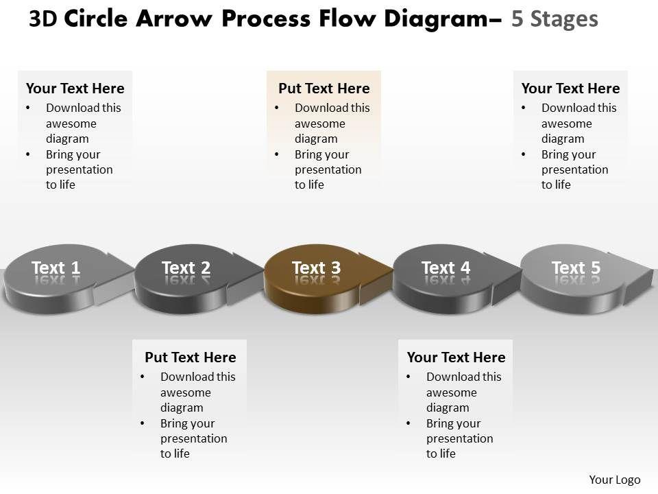 business powerpoint templates 3d circle arrow process flow. Black Bedroom Furniture Sets. Home Design Ideas