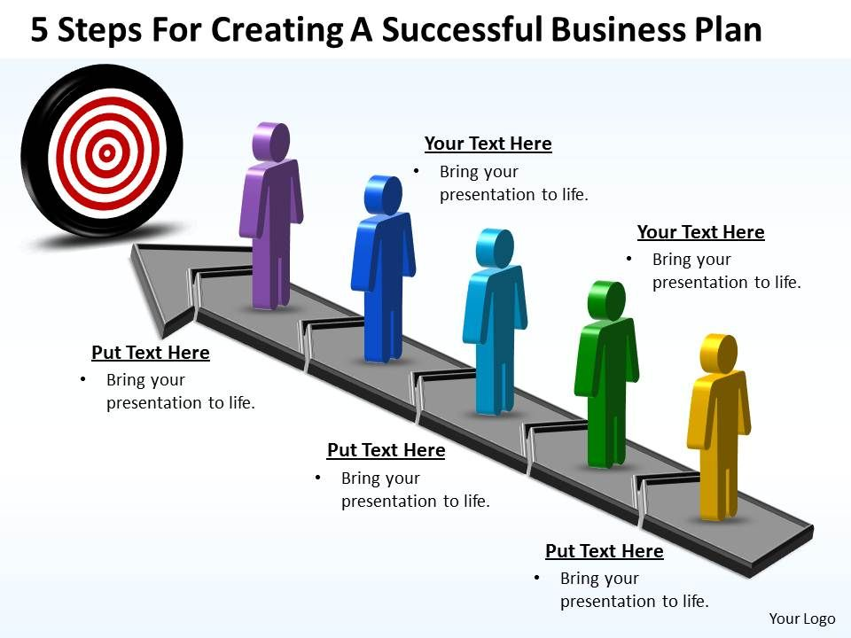 business powerpoint templates 5 steps for creating successful plan