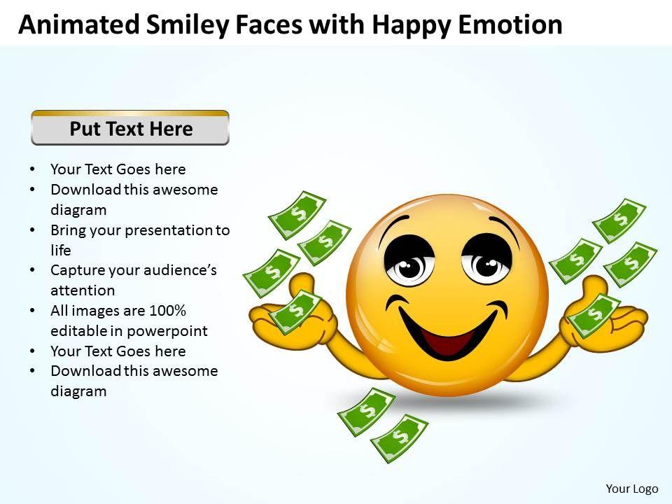 Business powerpoint templates animated smiley with happy emotion businesspowerpointtemplatesanimatedsmileywithhappyemotionsalespptslidesslide01 toneelgroepblik Image collections