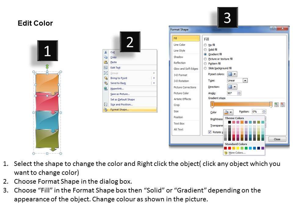 Business PowerPoint Templates arrow multi slide numbers