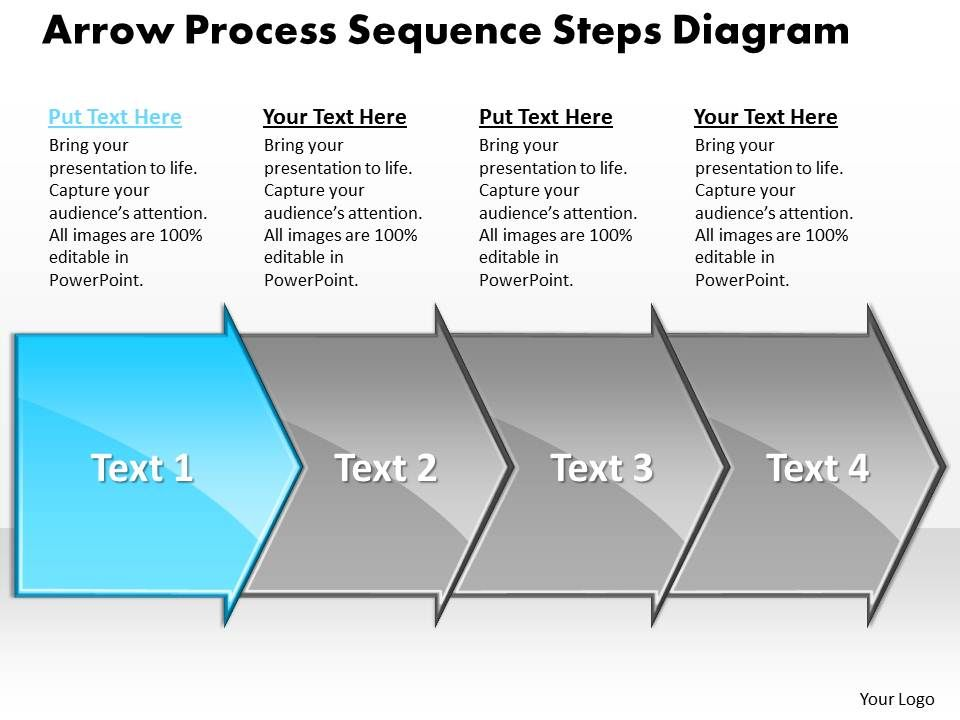 business powerpoint templates arrow process sequence steps diagram