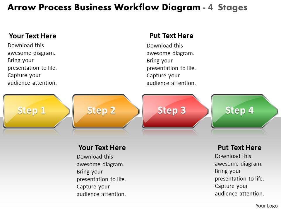 Business PowerPoint Templates Arrow Process Workflow Diagram - Workflow process template