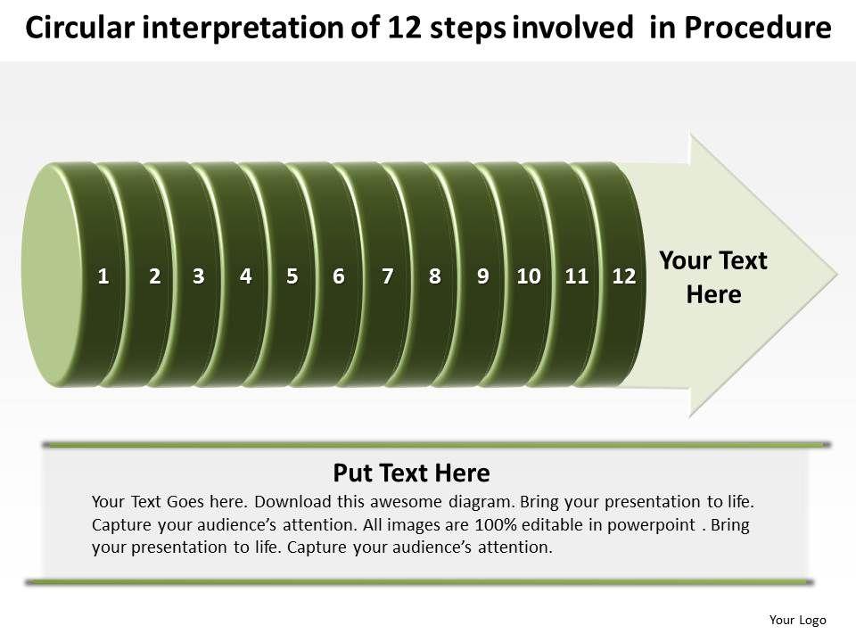 business_powerpoint_templates_circular_interpretation_of_12_steps_involved_procedure_sales_ppt_slides_Slide01