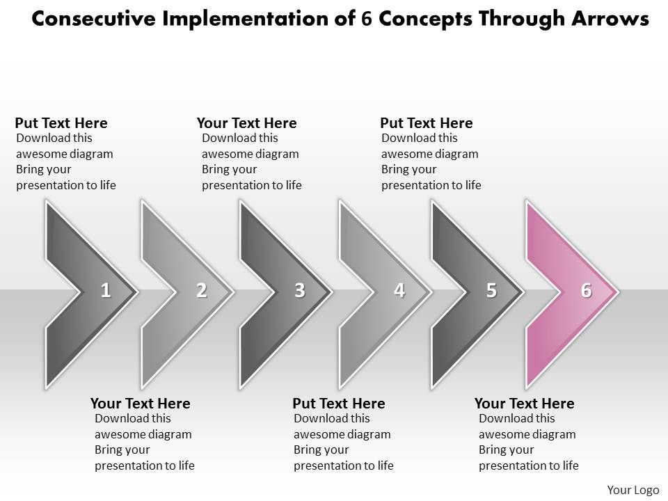 Business powerpoint templates consecutive implementation of 6 businesspowerpointtemplatesconsecutiveimplementationof6conceptsthrougharrowssalespptslidesslide07 toneelgroepblik Gallery