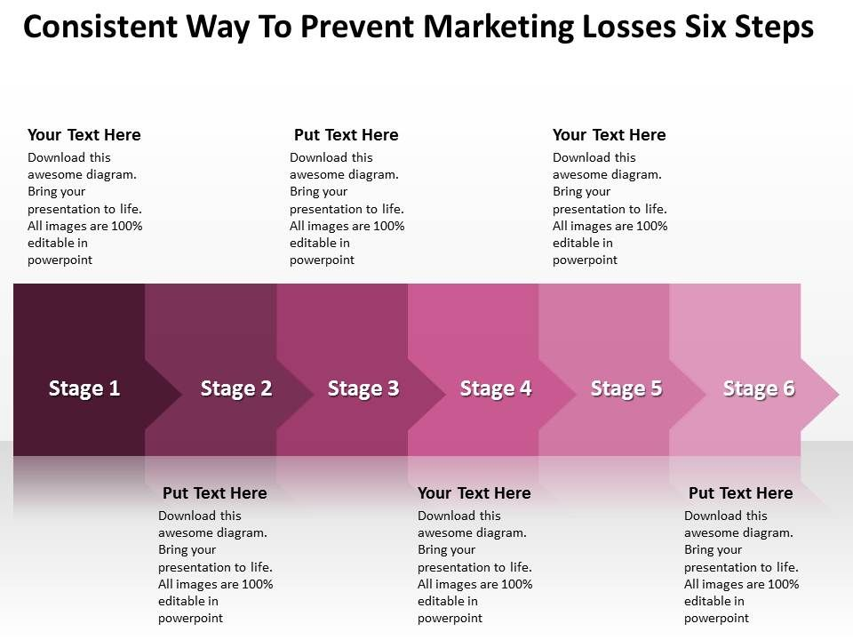 business_powerpoint_templates_consistent_way_to_prevent_marketing_losses_six_steps_sales_ppt_slides_Slide01