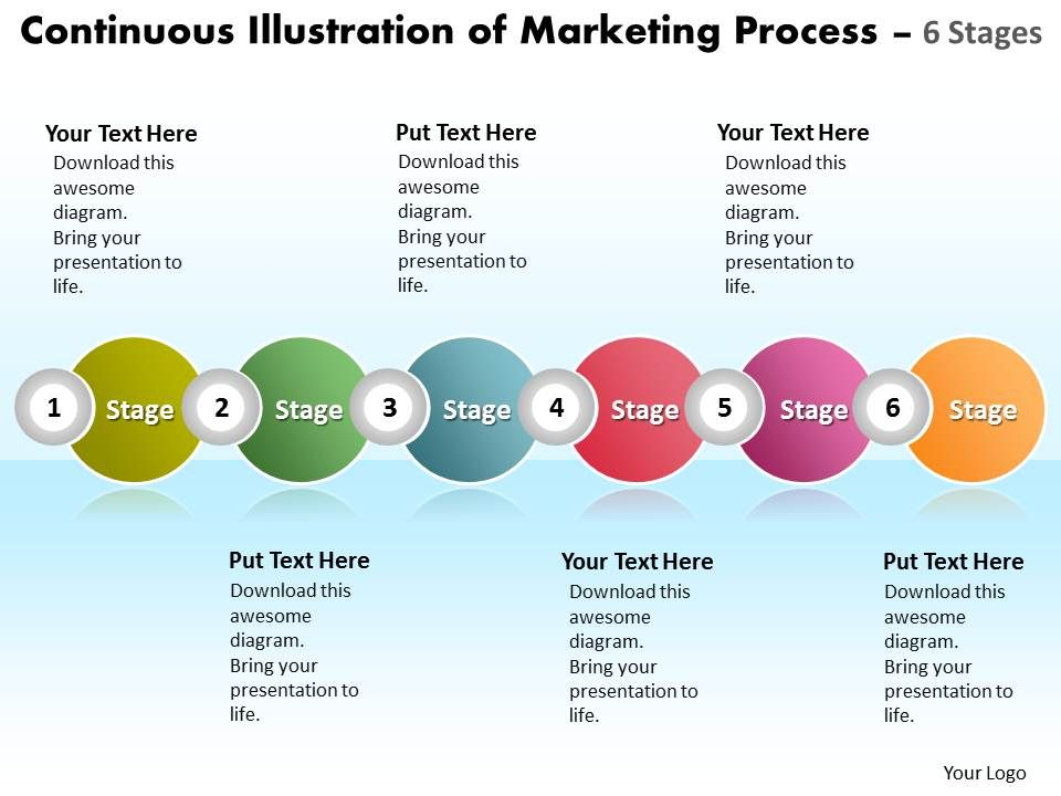 business_powerpoint_templates_continuous_illustration_of_marketing_process_using_6_stages_sales_ppt_slides_Slide01