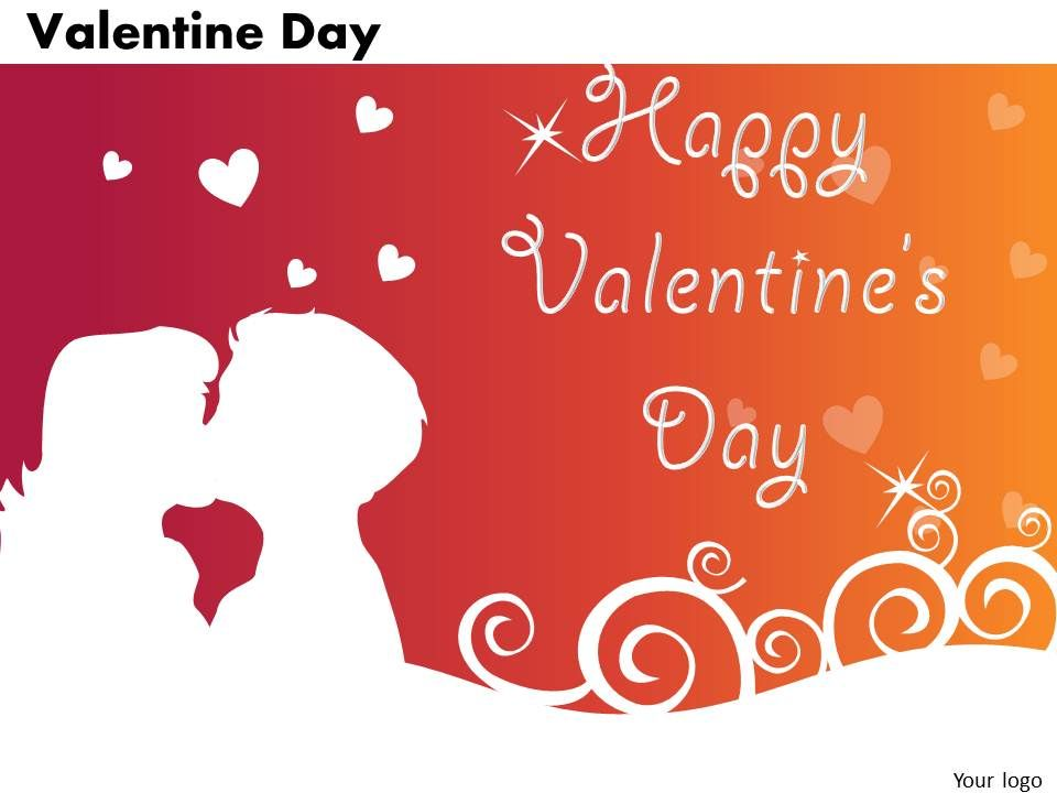 business powerpoint templates couple with heart valentine day, Powerpoint templates