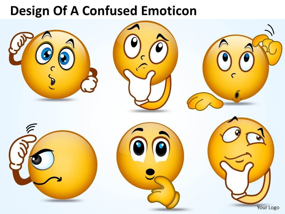 Business PowerPoint Templates Design Of Confused Emoticon