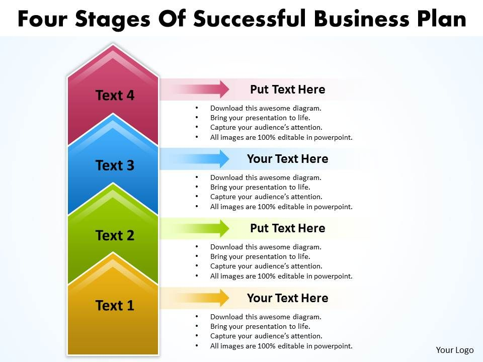 business powerpoint templates four state diagram ppt of successful