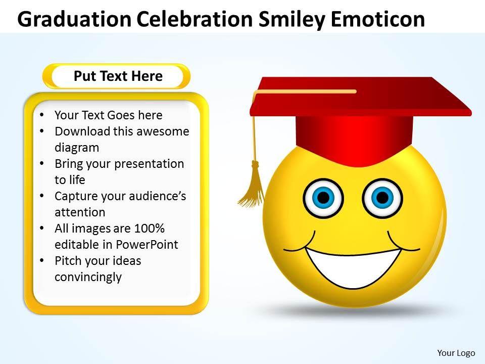 Business Powerpoint Templates Graduation Celebration Smiley