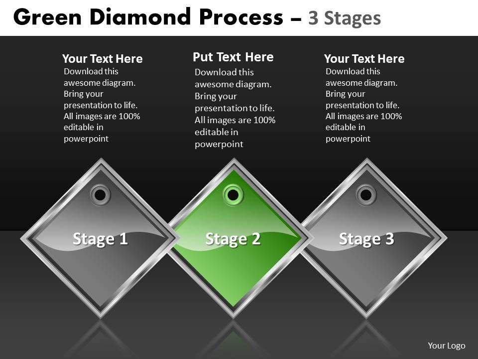 business powerpoint templates green diamond process of  state    business powerpoint templates green diamond process of  state diagram ppt sales slides