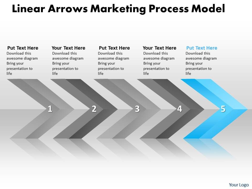 Business Powerpoint Templates Linear Arrows Marketing