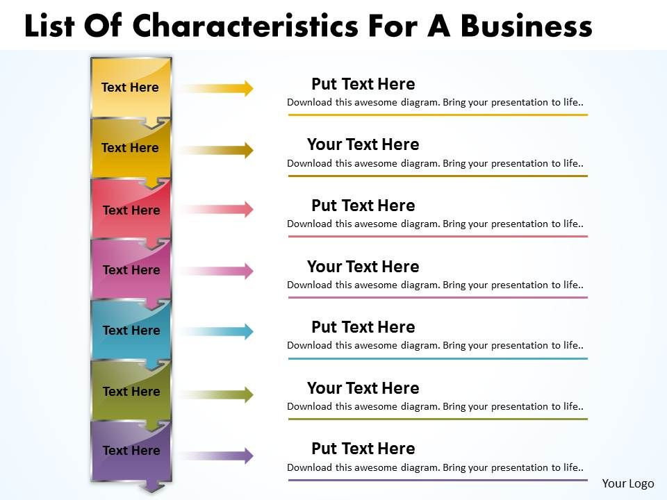 Business powerpoint templates list of characteristics for process businesspowerpointtemplateslistofcharacteristicsforprocesssalespptslides7stagesslide01 toneelgroepblik Image collections