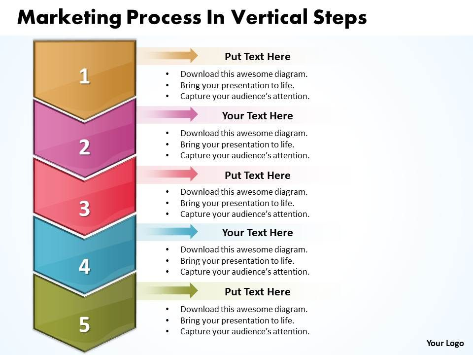 Business Powerpoint Templates Marketing Process Vertical Steps Sales