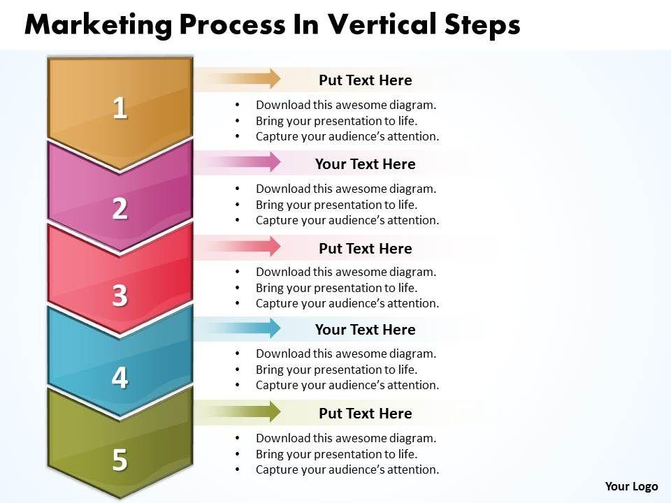 Business PowerPoint Templates Marketing Process Vertical Steps Sales - Process steps template