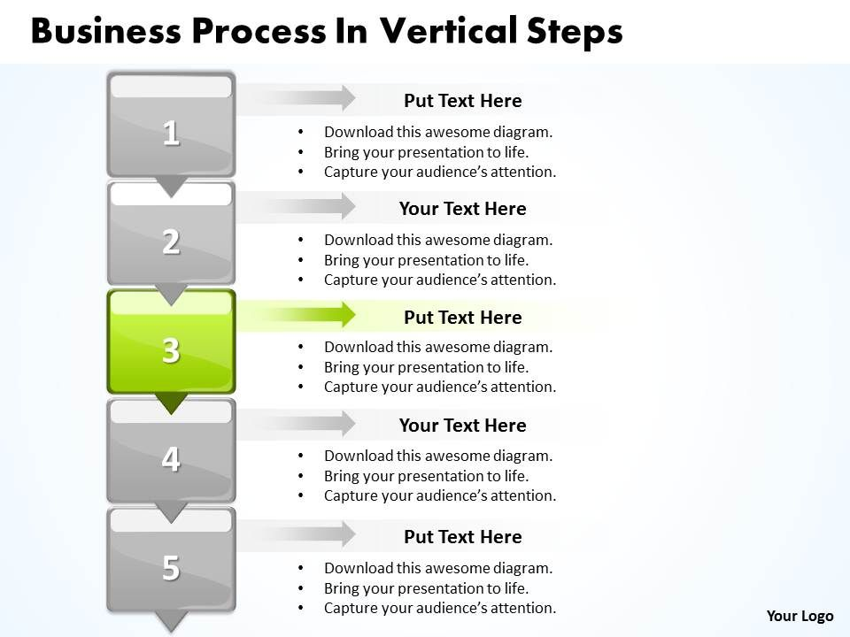 Business Powerpoint Templates Process Vertical Slide