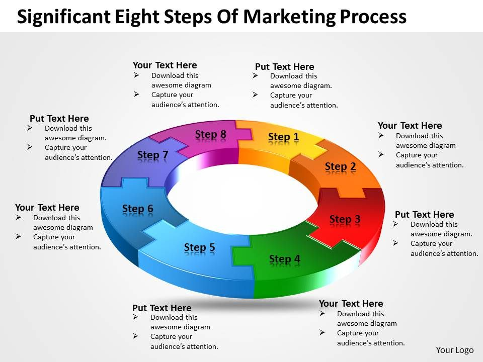 Business PowerPoint Templates significant eight steps of marketing ...